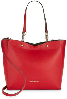 Karl Lagerfeld Women's Reversible Faux Leather Tote