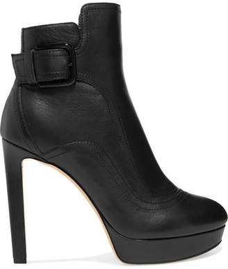 Jimmy Choo Britney Leather Ankle Boots - Black