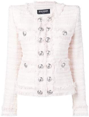 Balmain oversized button tweed jacket