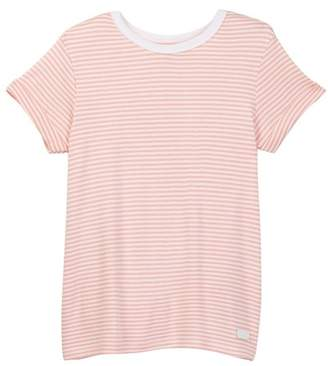 7 For All Mankind Slouchy Striped Tee (Big Girls)