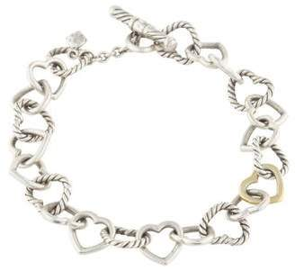 David Yurman Cable Heart Link Bracelet