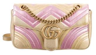 Gucci Metallic Small GG Marmont Matelassé Shoulder Bag