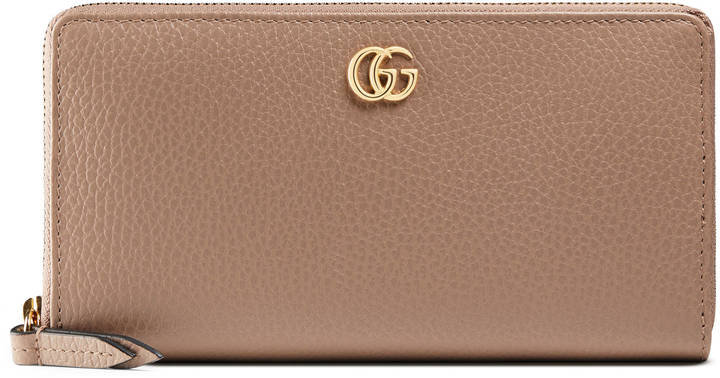 Gucci GG Marmont leather zip around wallet