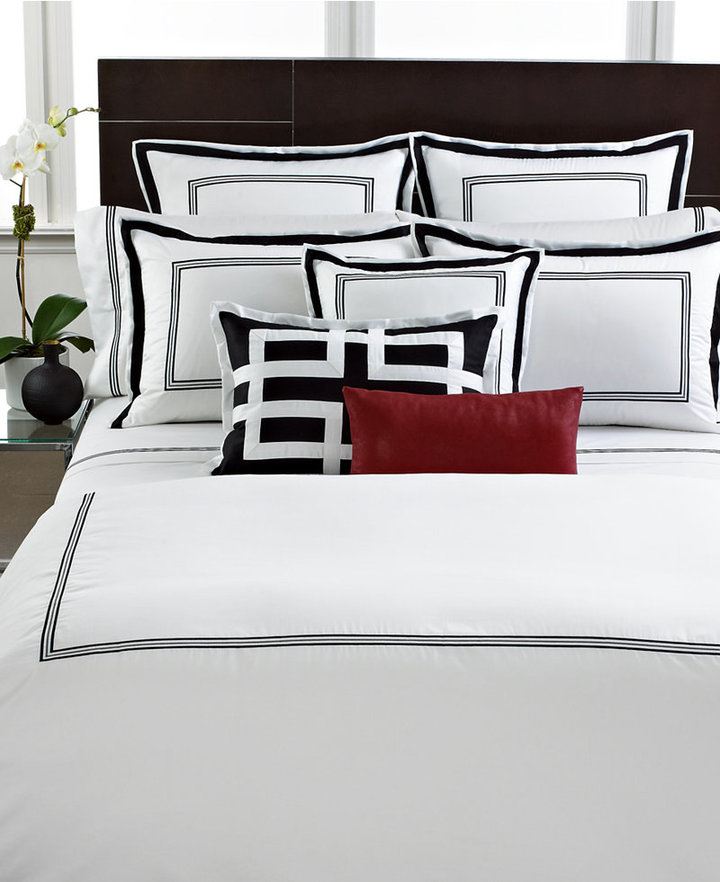 Hotel Collection Tuxedo Embroidery Collection King Duvet Cover