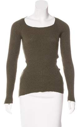 Monrow Cutout-Accented Knit Sweater