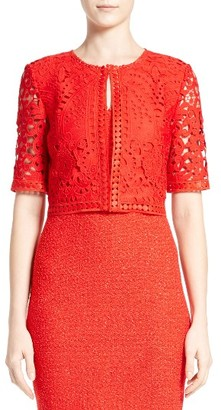 Women's St. John Collection Embroidered Lace Jacket $995 thestylecure.com