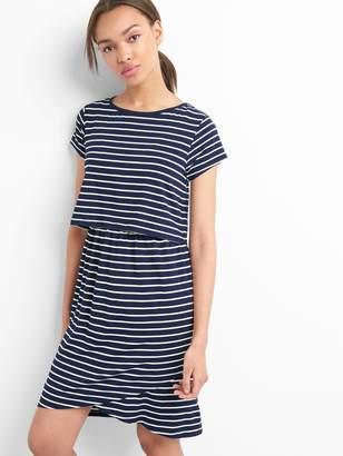 Gap Maternity stripe nursing t-shirt dress