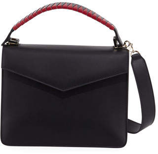 Les Petits Joueurs Pixie Geometric Leather Satchel Bag