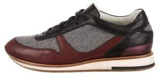 Lanvin Wool & Leather Low-Top Sneakers