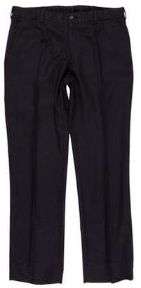 Ralph Lauren Black Label Flat Front Wool Pants