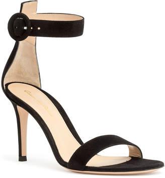 Gianvito Rossi Portofino 85 black suede sandals