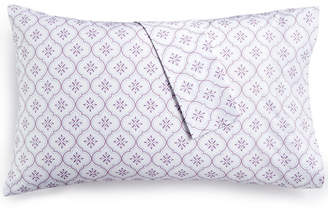 Martha Stewart Collection Printed Standard Pillowcase Pair, 400 Thread Count 100% Cotton Percale, Created for Macy's Bedding