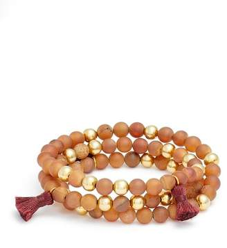 Gorjana Hannah Druzy Tassel Wrap Bracelet