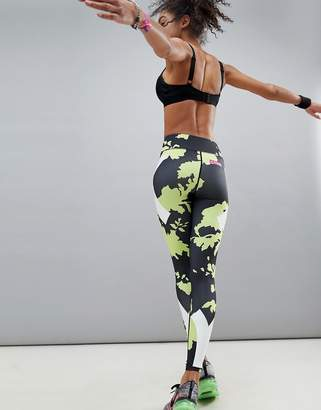 Asos 4505 run legging in floral print with compression panels
