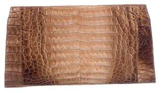 Nancy Gonzalez Crocodile Metallic Clutch