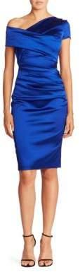 Talbot Runhof Asymmetric Satin Dress