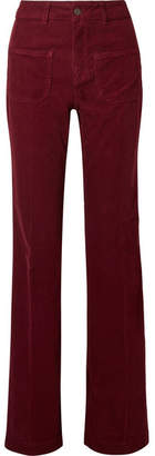 Vanessa Bruno - Dompay Cotton-blend Corduroy Flared Pants - Burgundy
