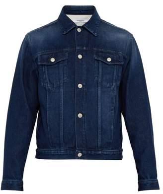 Givenchy Logo Print Denim Jacket - Mens - Blue