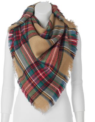 Apt. 9® Plaid Square Blanket Scarf $32 thestylecure.com