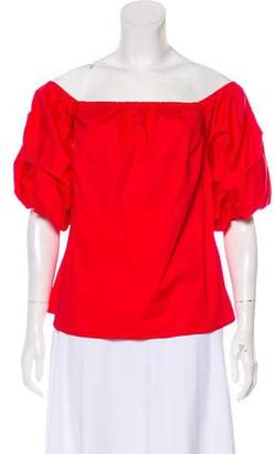 Petersyn Off-The-Shoulder Long Sleeve Top w/ Tags