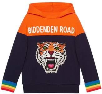Gucci Kids Children's hooded sweatshirt with appliqués