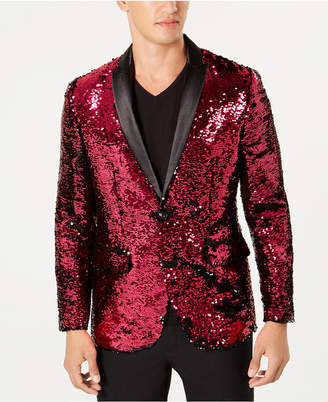 INC International Concepts I.n.c. Men Slim-Fit Reversible Sequined Blazer