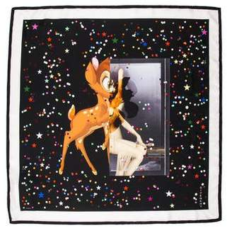 Givenchy Bambi Print Silk Scarf w/ Tags