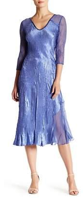 KOMAROV Sequined V-Neck Midi Dress $338 thestylecure.com