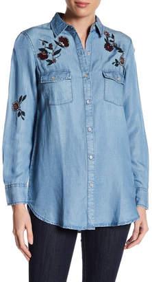 BB Dakota Cheryl Embroidered Denim Shirt