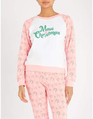 Wildfox Couture Maui printed cotton-jersey sweatshirt