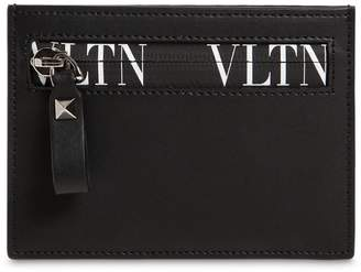 Valentino Vltn Logo Leather Wallet