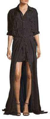 Faith Connexion Silk Button-Front Romper