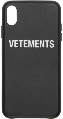 Vetements Black Logo iPhone XS Max Case
