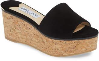 Jimmy Choo DeeDee Platform Wedge Slide Sandal