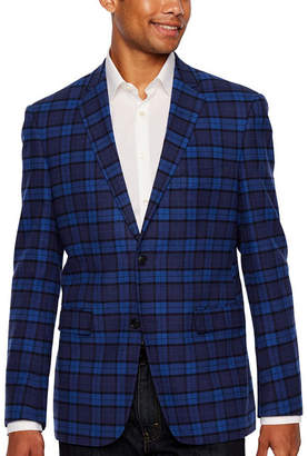 U.S. Polo Assn. Blue Plaid Classic Fit Sport Coat