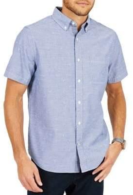 Nautica Classic-Fit Printed Chambray Shirt