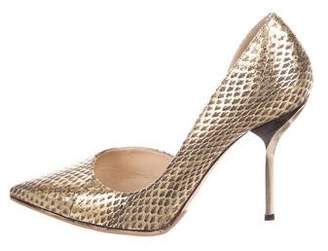 Jimmy Choo Willis Snakeskin Pumps