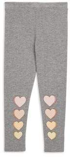 Chaser Little Girl's& Girl's Hearts Leggings