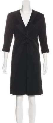 Jean Paul Gaultier Three-Quarter Sleeve Knee-Length Dress