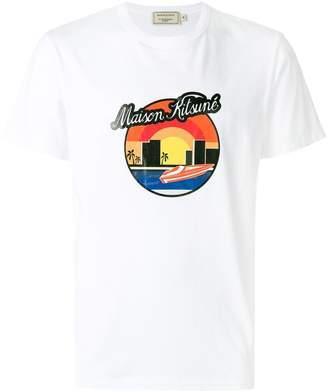 MAISON KITSUNÉ designer printed T-shirt