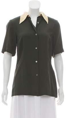 Dries Van Noten Short Sleeve Button-Up