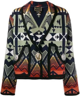 Jessie Western Caçadora Southwestern-print coat