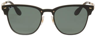 Ray-Ban Black and Gold Blaze Clubmaster Sunglasses
