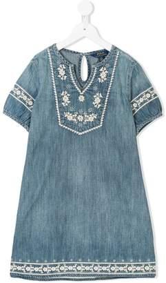 Ralph Lauren embroidered denim tunic