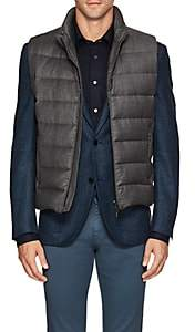 Moorer Men's Oliver Down-Quilted Wool-Cashmere Vest - Gray