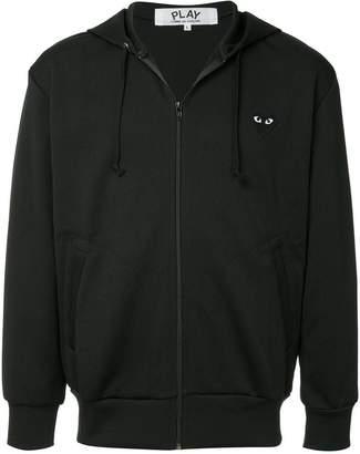 Comme des Garcons big heart logo hoodie