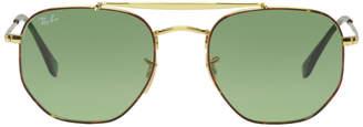 Ray-Ban Gold The Marshal Aviator Sunglasses