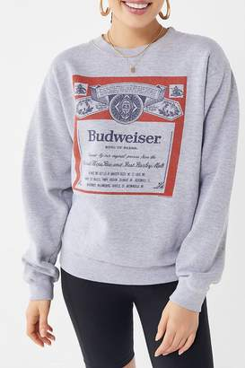 Junk Food Clothing Budweiser Classic Crew-Neck Sweatshirt