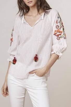 Velvet Summer Embroidery Top