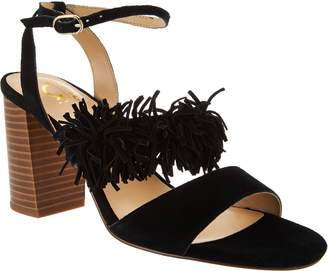 C. Wonder Suede Block Heel Sandals with Fringe - Gabrielle